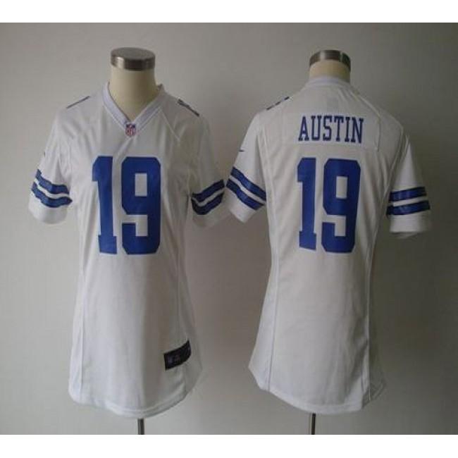 Women's Cowboys #19 Miles Austin White NFL Game Jersey