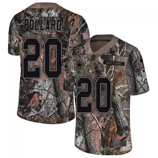 Nike Cowboys #20 Tony Pollard Camo Men's Stitched NFL Limited Rush Realtree Jersey