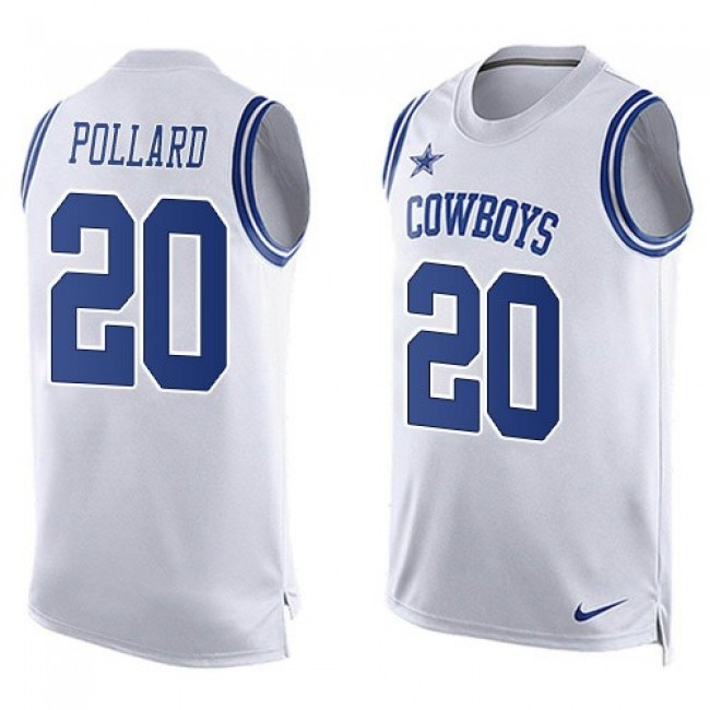 Nike Cowboys #20 Tony Pollard White Men's Stitched NFL Limited Tank Top Jersey