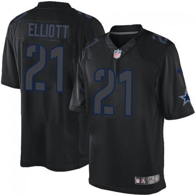 Nike Cowboys #21 Ezekiel Elliott Black Men's Stitched NFL Impact Limited Jersey