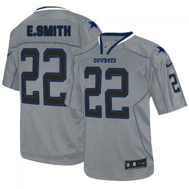 Nike Cowboys #22 Emmitt Smith Lights Out Grey Men's Stitched NFL Elite Jersey