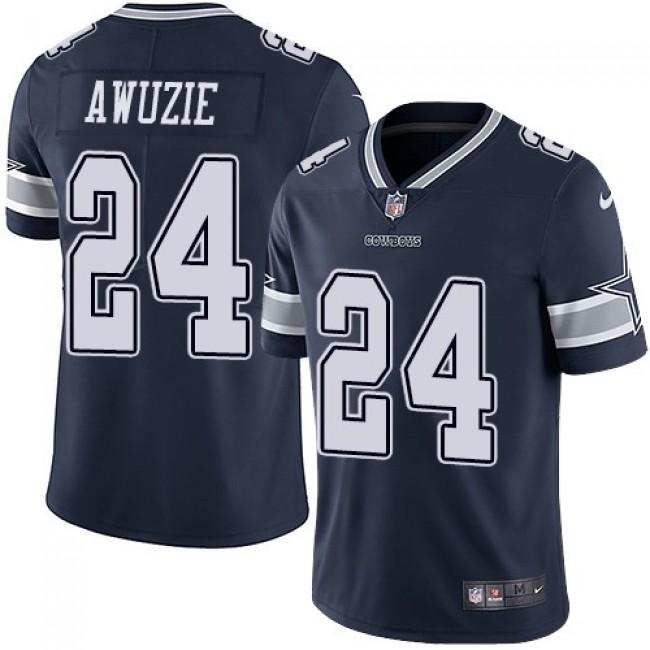Nike Cowboys #24 Chidobe Awuzie Navy Blue Team Color Men's Stitched NFL Vapor Untouchable Limited Jersey