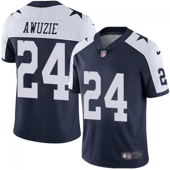 Nike Cowboys #24 Chidobe Awuzie Navy Blue Thanksgiving Men's Stitched NFL Vapor Untouchable Limited Throwback Jersey