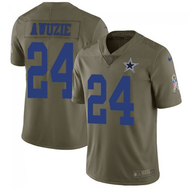 Nike Cowboys #24 Chidobe Awuzie Olive Men's Stitched NFL Limited 2017 Salute To Service Jersey