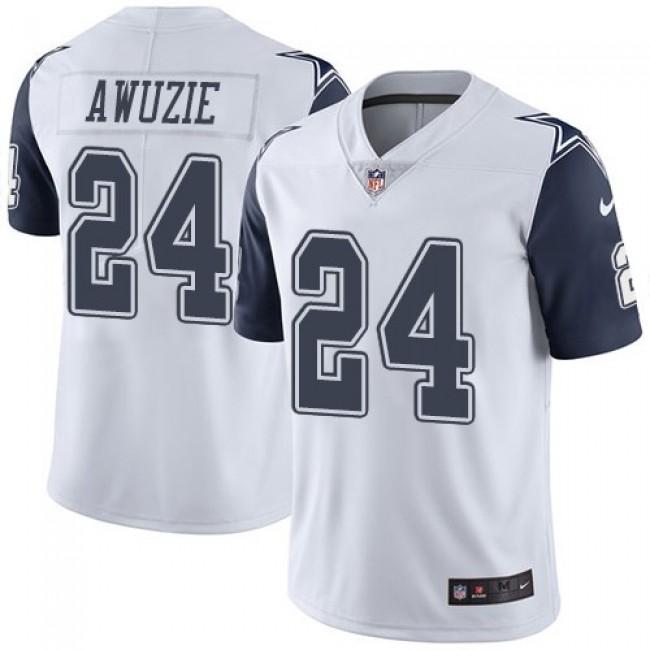 Nike Cowboys #24 Chidobe Awuzie White Men's Stitched NFL Limited Rush Jersey
