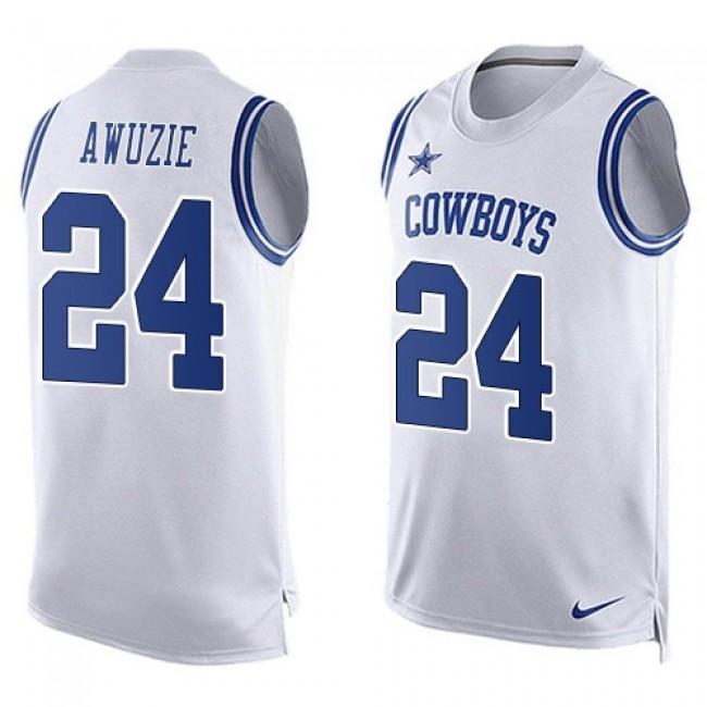 Nike Cowboys #24 Chidobe Awuzie White Men's Stitched NFL Limited Tank Top Jersey