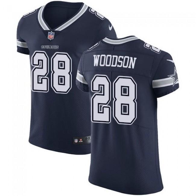 Nike Cowboys #28 Darren Woodson Navy Blue Team Color Men's Stitched NFL Vapor Untouchable Elite Jersey