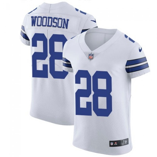 Nike Cowboys #28 Darren Woodson White Men's Stitched NFL Vapor Untouchable Elite Jersey