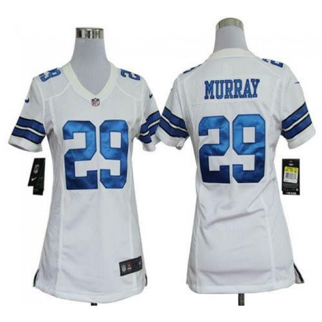 Women's Cowboys #29 DeMarco Murray White Stitched NFL Elite Jersey
