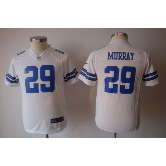 Dallas Cowboys #29 DeMarco Murray White Youth NFL Game Jersey