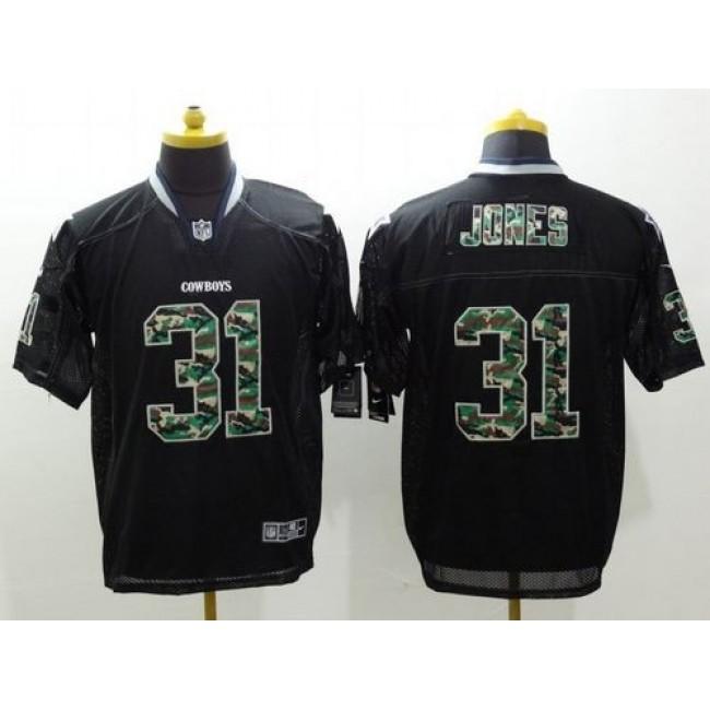 Nike Cowboys #31 Byron Jones Black Men's Stitched NFL Elite Camo Fashion Jersey