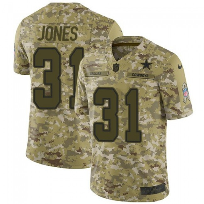 Nike Cowboys #31 Byron Jones Camo Men's Stitched NFL Limited 2018 Salute To Service Jersey