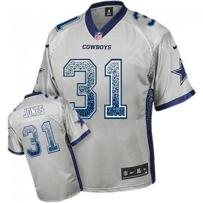 Nike Cowboys #31 Byron Jones Grey Men's Stitched NFL Elite Drift Fashion Jersey