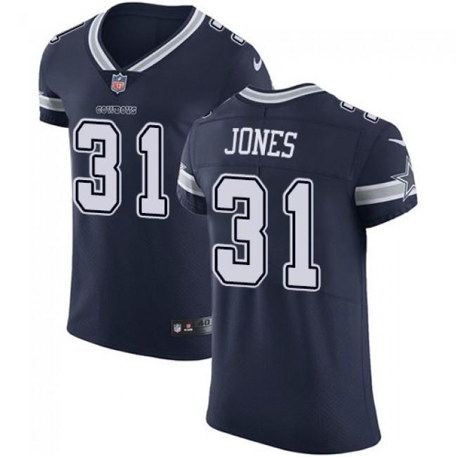Nike Cowboys #31 Byron Jones Navy Blue Team Color Men's Stitched NFL Vapor Untouchable Elite Jersey
