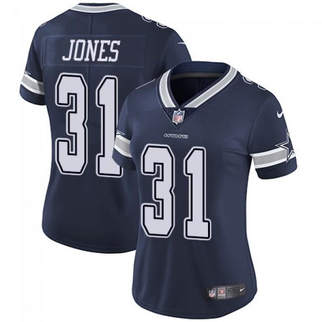 Women's Cowboys #31 Byron Jones Navy Blue Team Color Stitched NFL Vapor Untouchable Limited Jersey