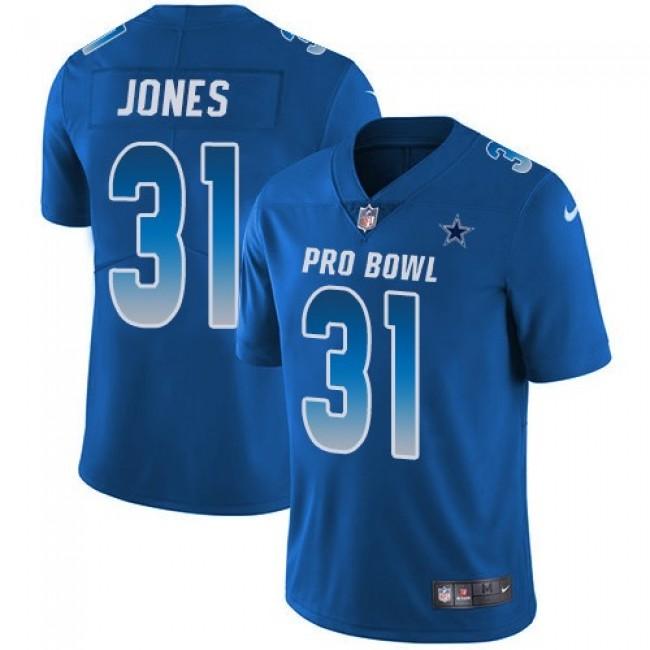 Nike Cowboys #31 Byron Jones Royal Men's Stitched NFL Limited NFC 2019 Pro Bowl Jersey