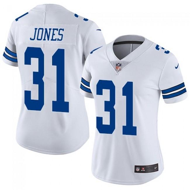 Women's Cowboys #31 Byron Jones White Stitched NFL Vapor Untouchable Limited Jersey