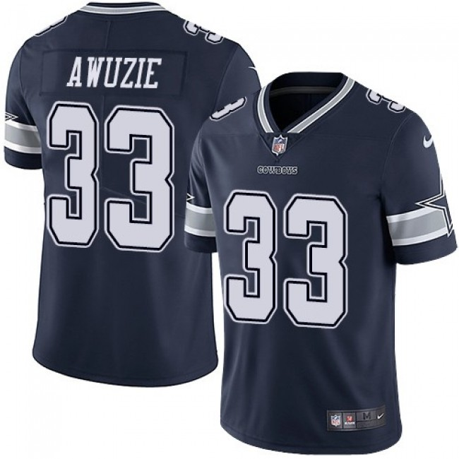 Dallas Cowboys #33 Chidobe Awuzie Navy Blue Team Color Youth Stitched NFL Vapor Untouchable Limited Jersey