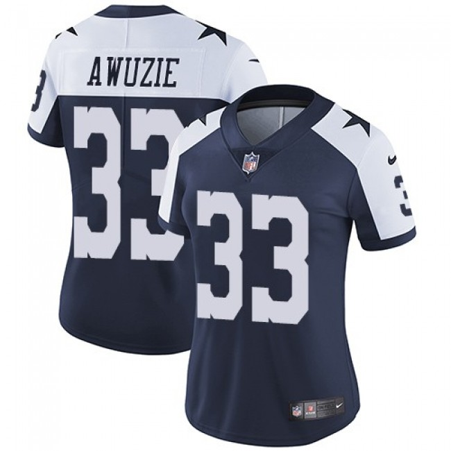 Women's Cowboys #33 Chidobe Awuzie Navy Blue Thanksgiving Stitched NFL Vapor Untouchable Limited Throwback Jersey