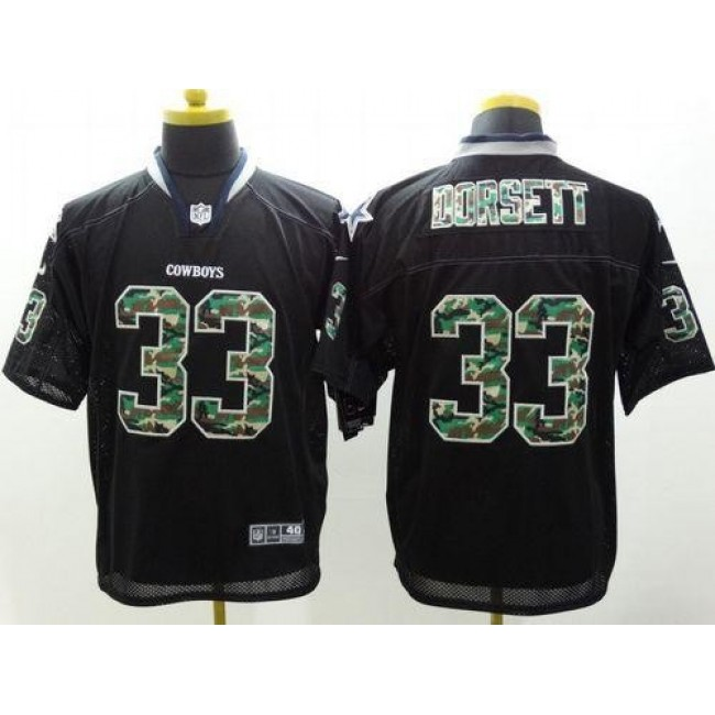 Nike Cowboys #33 Tony Dorsett Black Men's Stitched NFL Elite Camo Fashion Jersey