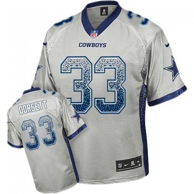 Nike Cowboys #33 Tony Dorsett Grey Men's Stitched NFL Elite Drift Fashion Jersey