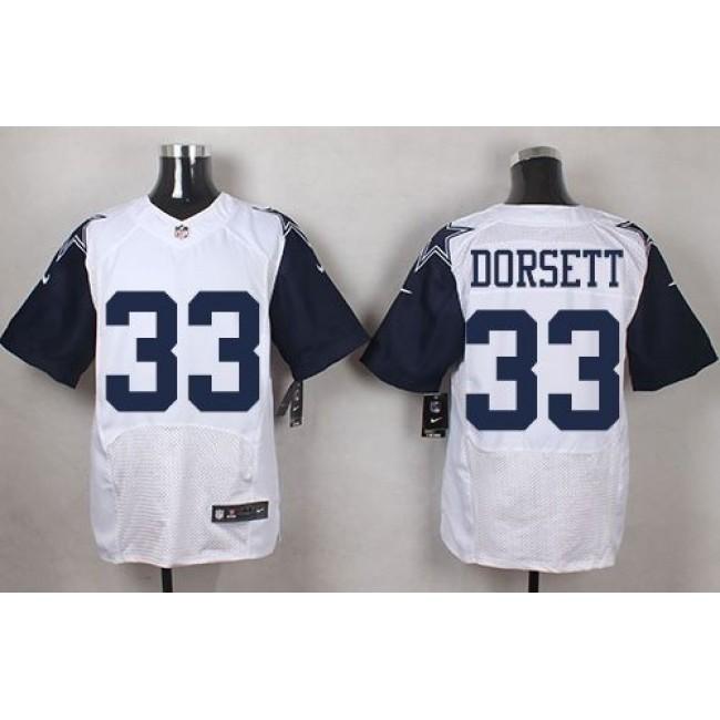 Nike Cowboys #33 Tony Dorsett White Men's Stitched NFL Elite Rush Jersey