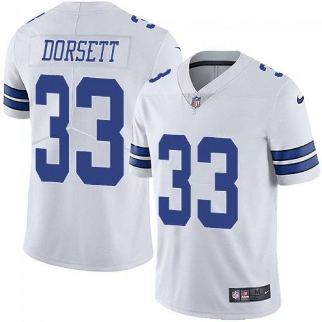 Nike Cowboys #33 Tony Dorsett White Men's Stitched NFL Vapor Untouchable Limited Jersey