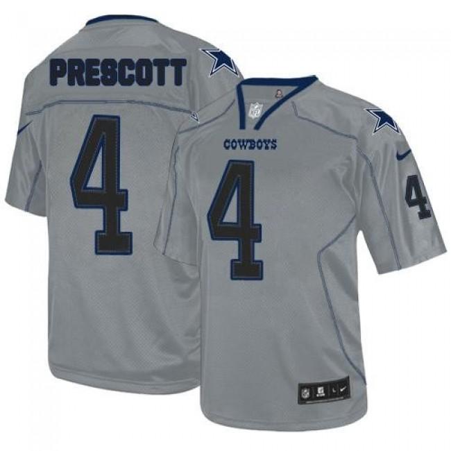 Nike Cowboys #4 Dak Prescott Lights Out Grey Men's Stitched NFL Elite Jersey