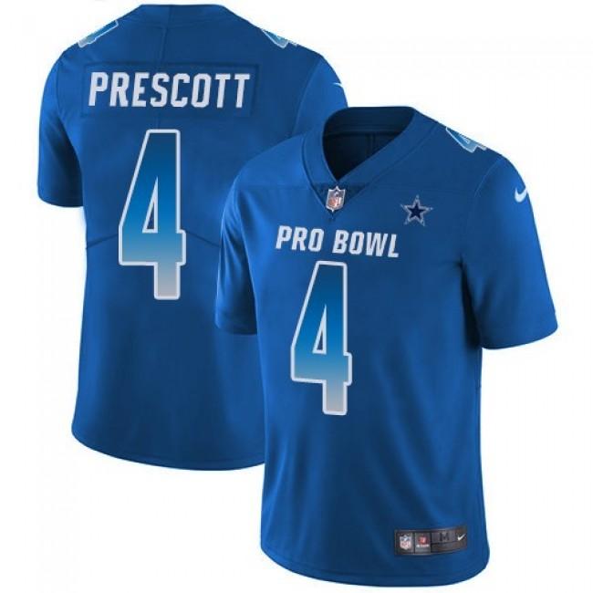 Nike Cowboys #4 Dak Prescott Royal Men's Stitched NFL Limited NFC 2019 Pro Bowl Jersey