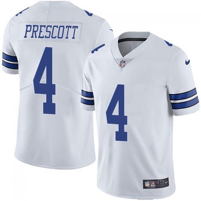 Nike Cowboys #4 Dak Prescott White Men's Stitched NFL Vapor Untouchable Limited Jersey
