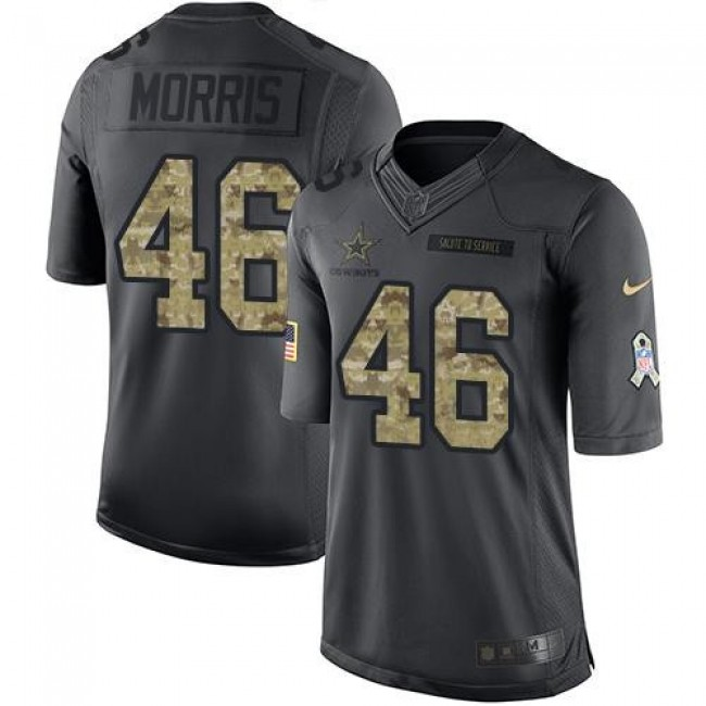 Dallas Cowboys #46 Alfred Morris Black Youth Stitched NFL Limited 2016 Salute to Service Jersey