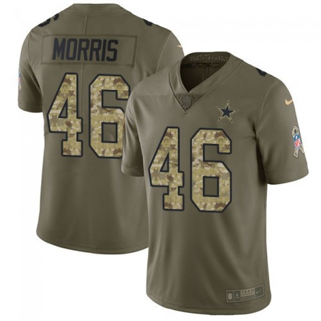 Dallas Cowboys #46 Alfred Morris Olive-Camo Youth Stitched NFL Limited 2017 Salute to Service Jersey