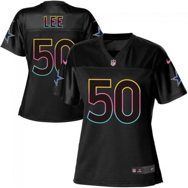Women's Cowboys #50 Sean Lee Black NFL Game Jersey