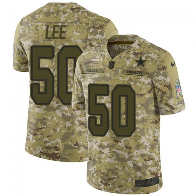 Nike Cowboys #50 Sean Lee Camo Men's Stitched NFL Limited 2018 Salute To Service Jersey