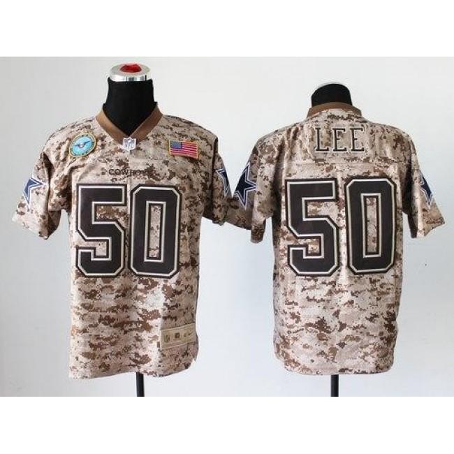 Nike Cowboys #50 Sean Lee Camo Men's Stitched NFL New Elite USMC Jersey