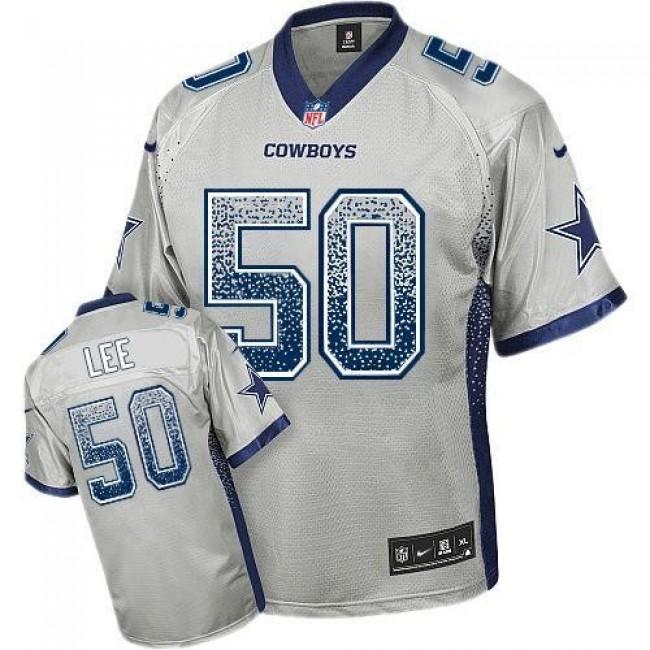 Nike Cowboys #50 Sean Lee Grey Men's Stitched NFL Elite Drift Fashion Jersey