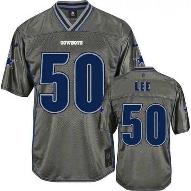 Nike Cowboys #50 Sean Lee Grey Men's Stitched NFL Elite Vapor Jersey