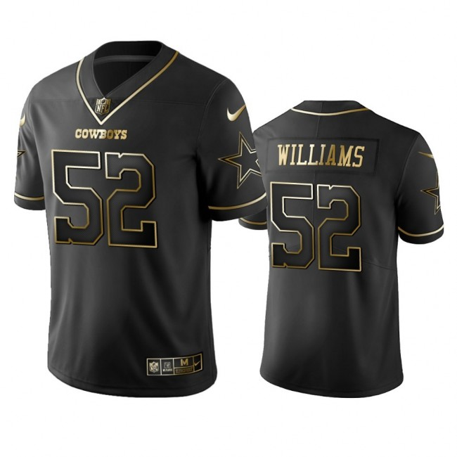 Nike Cowboys #52 Connor Williams Black Golden Limited Edition Stitched NFL Jersey