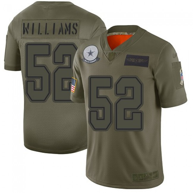 Nike Cowboys #52 Connor Williams Camo Men's Stitched NFL Limited 2019 Salute To Service Jersey