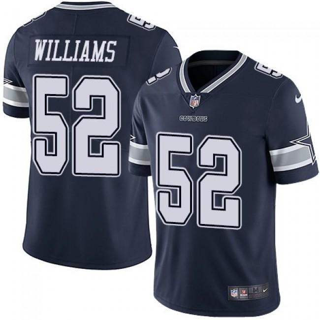 Nike Cowboys #52 Connor Williams Navy Blue Team Color Men's Stitched NFL Vapor Untouchable Limited Jersey