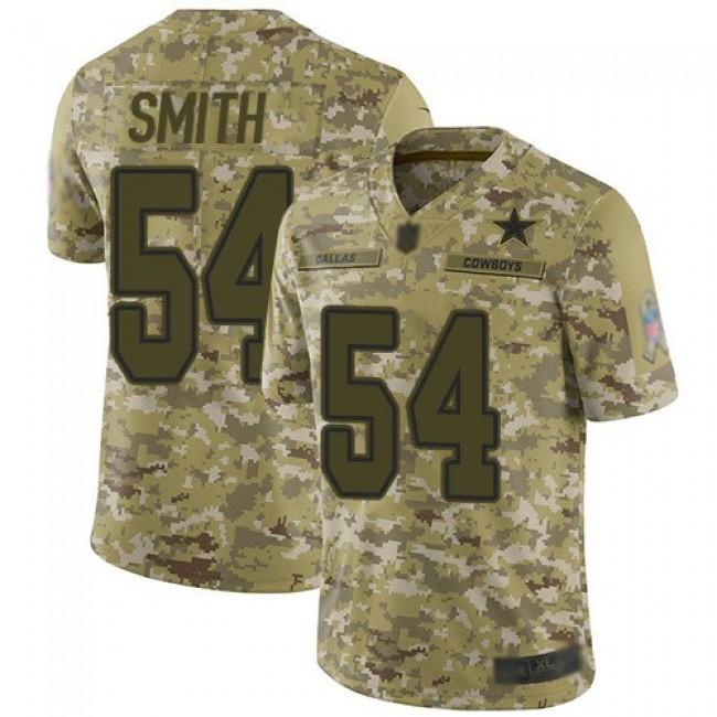 Nike Cowboys #54 Jaylon Smith Camo Men's Stitched NFL Limited 2018 Salute To Service Jersey