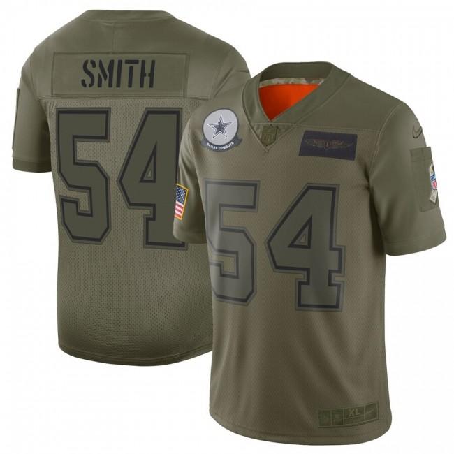 Nike Cowboys #54 Jaylon Smith Camo Men's Stitched NFL Limited 2019 Salute To Service Jersey