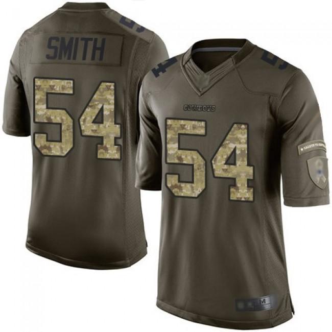Nike Cowboys #54 Jaylon Smith Green Men's Stitched NFL Limited 2015 Salute to Service Jersey