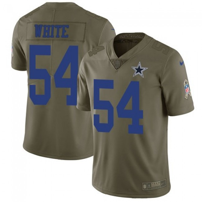 Nike Cowboys #54 Randy White Olive Men's Stitched NFL Limited 2017 Salute To Service Jersey