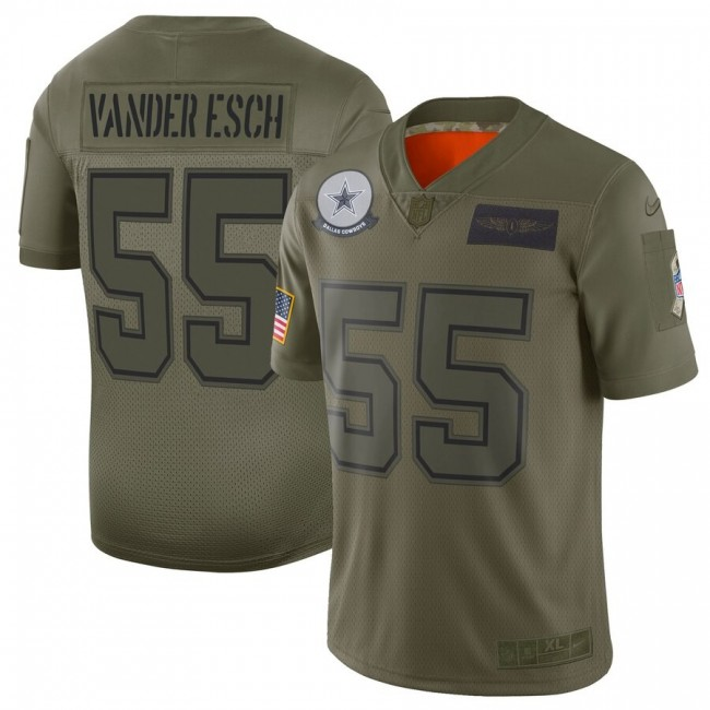 Nike Cowboys #55 Leighton Vander Camo Men's Stitched NFL Limited 2019 Salute To Service Jersey