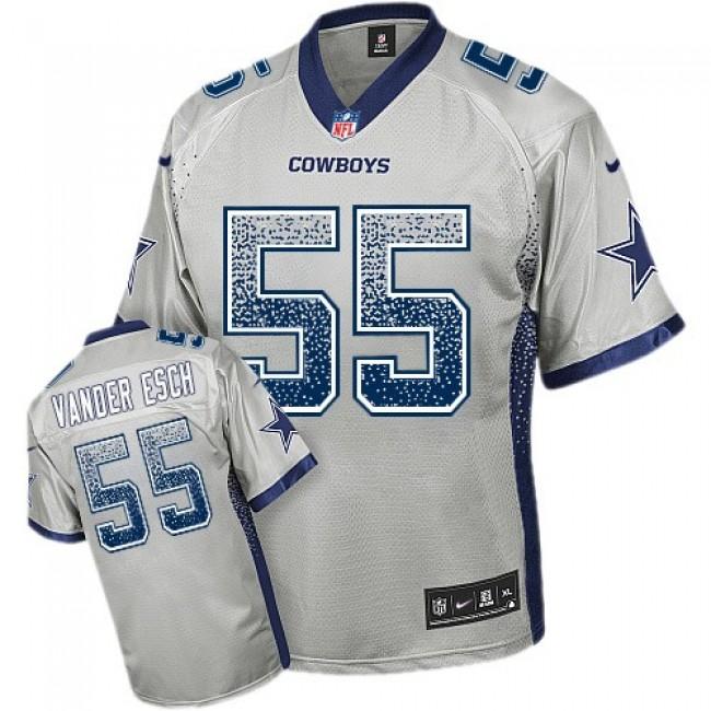Nike Cowboys #55 Leighton Vander Esch Grey Men's Stitched NFL Elite Drift Fashion Jersey
