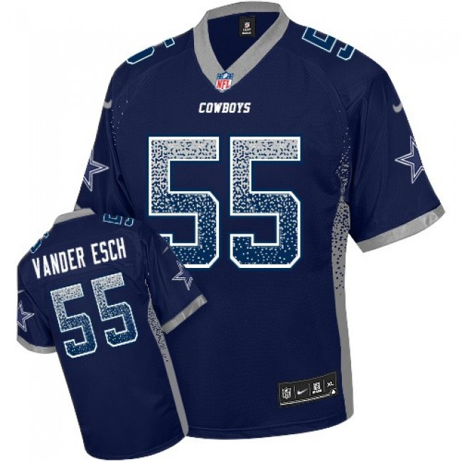 Nike Cowboys #55 Leighton Vander Esch Navy Blue Team Color Men's Stitched NFL Elite Drift Fashion Jersey