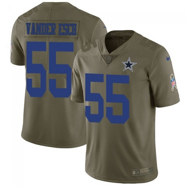 Nike Cowboys #55 Leighton Vander Esch Olive Men's Stitched NFL Limited 2017 Salute To Service Jersey