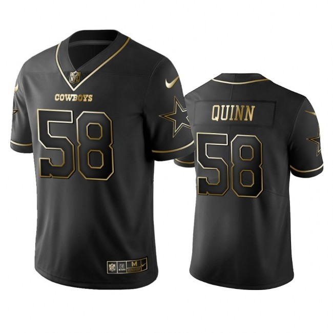 Nike Cowboys #58 Robert Quinn Black Golden Limited Edition Stitched NFL Jersey