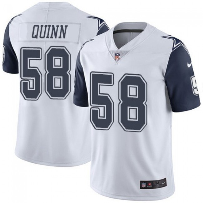 Nike Cowboys #58 Robert Quinn White Men's Stitched NFL Limited Rush Jersey